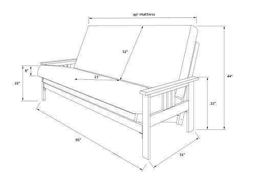 Kodiak Furniture KF Monterey Futon Frame