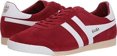 Gola Men's Harrier 50 Suede Sneakers | Red/White - ()