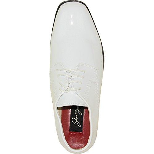 Jean Yves Zapato De Vestir Jy01 Classic Tuxedo Para Boda, Baile De Graduación Y Evento Formal White Patent