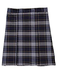 Cookie's Brand Big Girls' Pleated Skirt - Royal/lt. Blue/Gold *Plaid #57*, 14