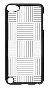 Brian114 Case, iPod Touch 5 Case, iPod Touch 5th Case Cover, Black And White Stripes Retro Protective Hard PC Back Case for iPod Touch 5 ( Black )