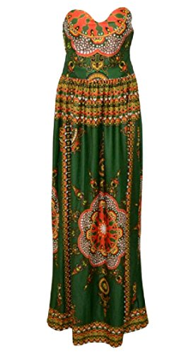 Coolred-femmes Tunique Imprimé Floral Fête Style Africain Robe Swing Soir 13