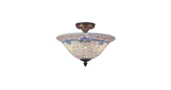 Amazon.com: Dale Tiffany tm100553 Johana mosaico Flush Mount ...