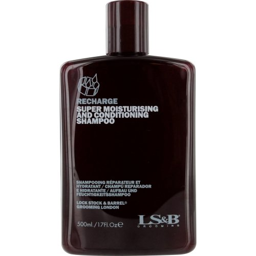 Lock Stock & Barrel Recharge Super Moisturizing and Conditioning Shampoo, 17 Ounce