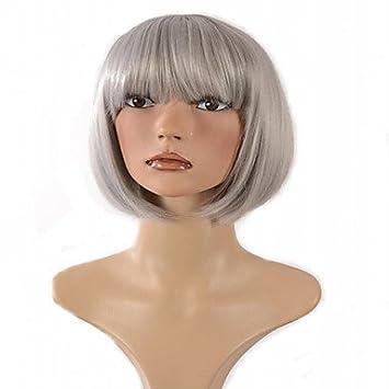 OOFAY JF® peluca sintética de la manera del color gris barato cosplay corta , grey