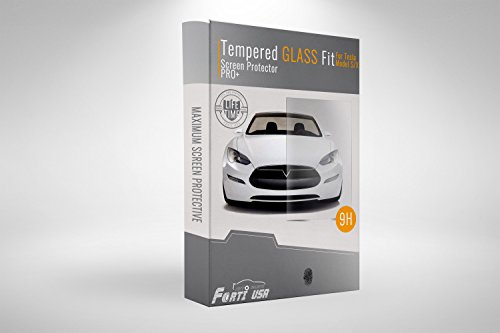 Forti USA | Tesla Model S/X Touch Panel Tempered Glass Screen Protector 17inch Anti-Fingerprint Ultra Clear HD - A Remove Way Scratches There To Glasses Is From