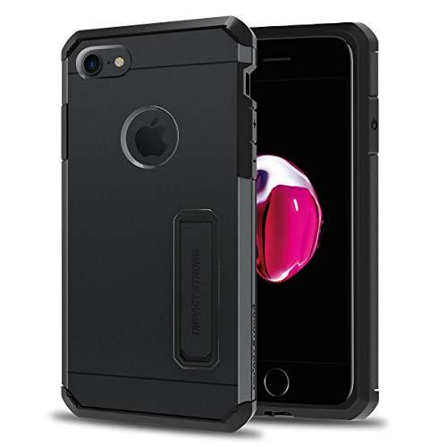 [해외]IMPACTSTRONG iPhone 78 Case Heavy Duty Dual Layer Protection CoverMetal Kickstand Heavy Duty Case for Apple iPhone 78 (K-Gun Black) / IMPACTSTRONG iPhone 78 Case, Heavy Duty Dual Layer Protection CoverMetal Kickstand Heavy Duty Cas...
