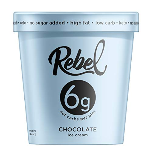 - Rebel Ice Cream - Low Carb, Keto - Chocolate (8 Count)