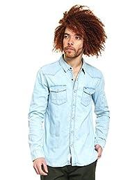 Hilfiger Denim TJM BASIC REG DENIM SHIRT L/S 52 Camisa para Hombre