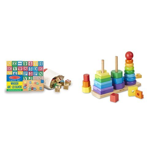 Melissa Doug 100 Piece Wood Blocks Set