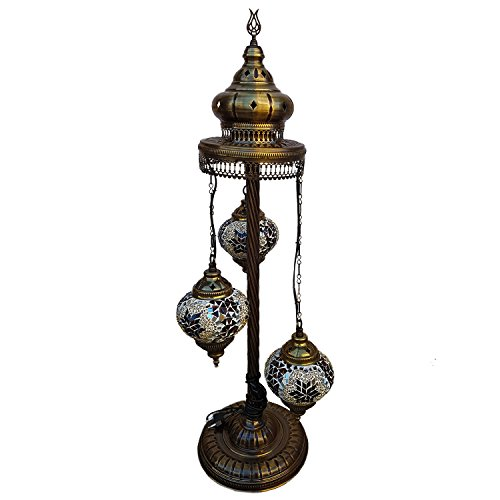 Mosaic Floor Lamp ,35.45 inches height ,Standing Lamp ,Tripot ,Torchiere,Chandelier ,Lighting ,Ceiling Lamp,Tiffany Lamp , Eclectic Decorating , Turkish Lights, Rustic Furniture,Christmas Gift