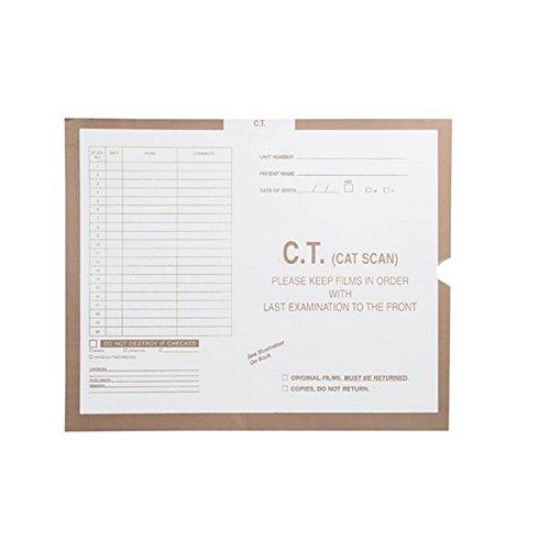 C.T. (Cat Scan), Khaki #468 - Category Insert Jackets, System II, Open End - 14-1/4'' x 17-1/2'' (Carton of 250)