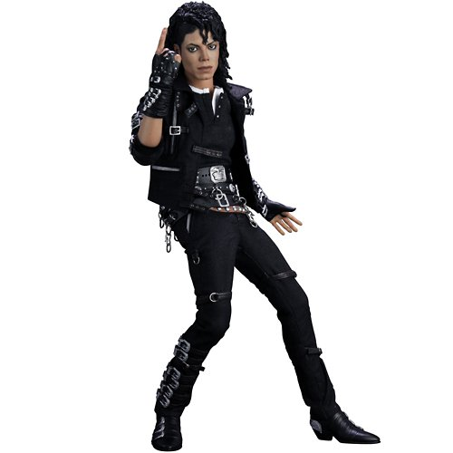 Michael Jackson Costume Makeup (Michael Jackson Bad 12 Figure By Hottoys by Music)