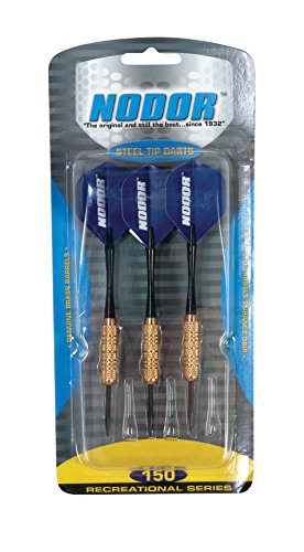 Nodor STR150 Steel Tip Dart Set Designed for Use with Bristle Dartboards for Recreational Players