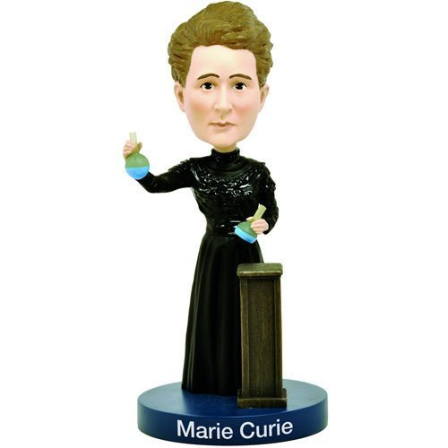 Royal Bobbles Marie Curie Bobblehead with Glow-in-the-Dark Lab Beakers