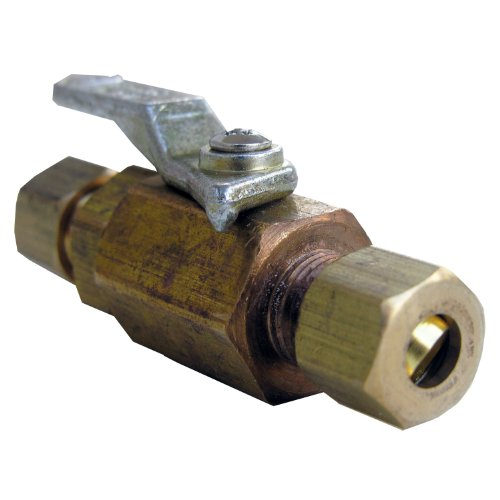 - LASCO 17-0995 1/4-Inch Compression by 1/4-Inch Compression Brass Ball Valve