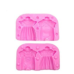 3D Baby Cloth Candle Mold Soap Mold Girl and Boy C