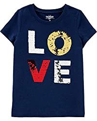 Girls Sequin Short Sleeve T-Shirt