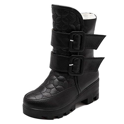 RAZAMAZA Women Black Boots Winter H Warm pPdwCqRP