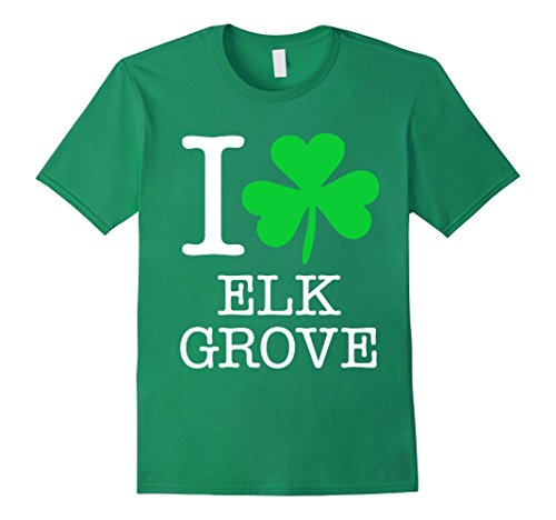 Mens Elk Grove Irish Shamrock T Shirt Love Heart 3Xl Kelly Green