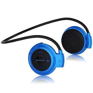 Hinmay Auriculares Bluetooth, auriculares inalámbricos estéreo, cómodos, auriculares deportivos integrados con micrófono,
