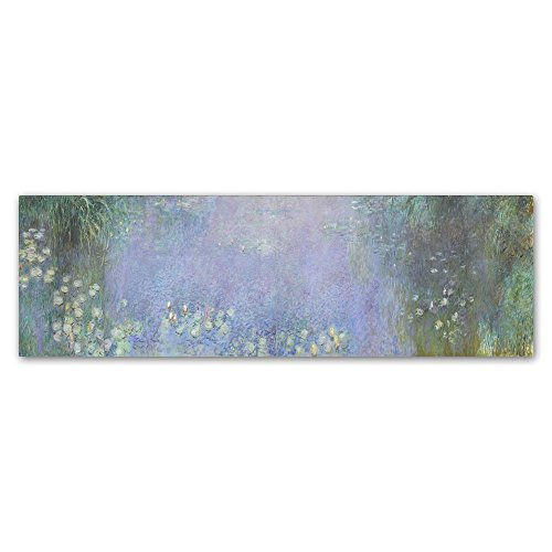 The Water Lillies Morning by Monet, 16x47-Inch Canvas Wall Art