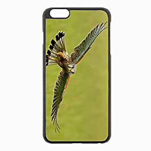 iPhone 6 Plus Black Hardshell Case 5.5inch - kestrel flight wings flap Desin Images Protector Back Cover