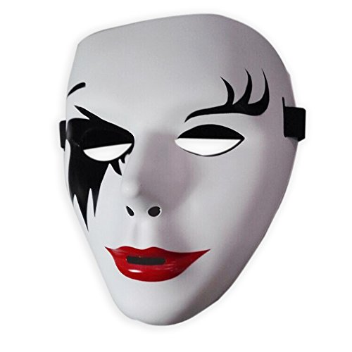 Head Mask Halloween Party Costume Mask Masquerade Party Full Face Costume Purge Vendetta Mask Girls (Girl Joker Halloween Costume)