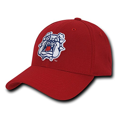 University Fresno State Bulldogs CSUFRESNO NCAA Flex Baseball Fitted Fit Ball Cap Hat - Fresno State Fitted Cap