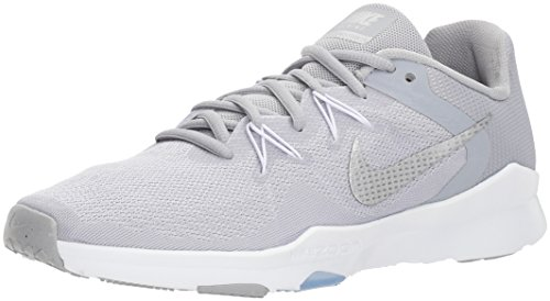 Nike Womens Entry - Nike Women's Zoom Condition Trainer 2 Cross, Wolf Grey/Metallic Silver - White, 6.5 Regular US