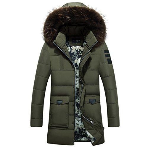 long men's In hooded winter jacket the XXL green HHY warm aYBxnFOO