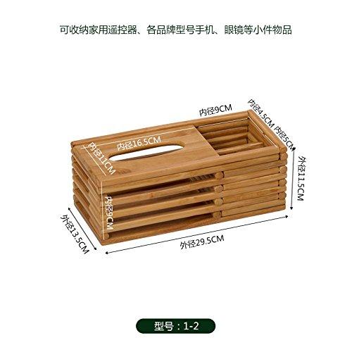 Wuyulunbi@ Multifunctional Paper Towel Box, Living Room Remote Control Case Box, Solid Wood Paper Box,B