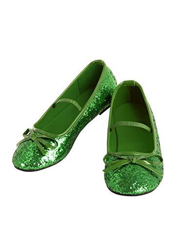 Rubie's Girls Ballet Shoe Green 11/12
