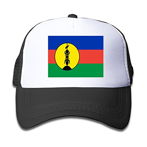 wholesale Futong Huaxia Flag Of New Caledonia Boy & Girl Grid Baseball Caps Adjustable sunshade Hat For Children on sale