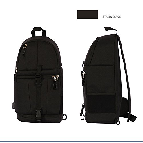 Fanny Satchel AFCITY Hombro de SLR Color Bag Sling Verde Pack Backpack Gym Negro Bolsa desequilibrada 900D Camera 8qwBCx8v