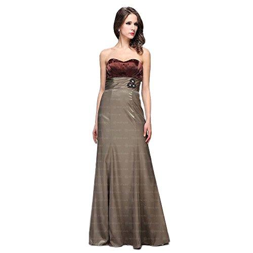 bei Ital Ball Braun Für Kleid Festamo Maxi Damen Design qFfaqw1
