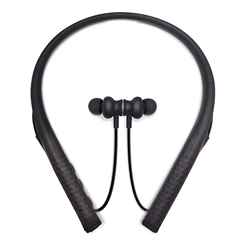 474f26cfbf6 Photive Flex Wireless Neckband Earbud Bluetooth Headphones. Comfortable  Lightweight Silicone Thats Sweatproof and Secure-Fit 12-Hour Battery and  Microphone
