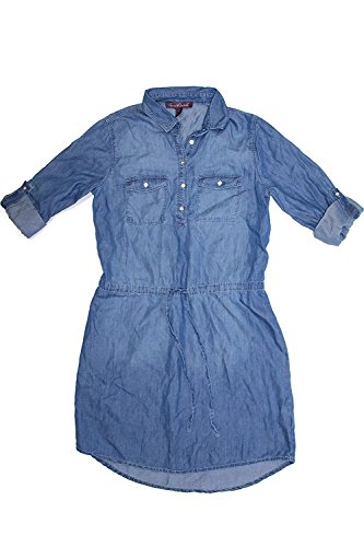 Ladies Denim Dress (Gloria Vanderbilt Ladies Denim Dresses - Womens Chambray Shirt Blouse Dress (Medium, Rimini Wash))