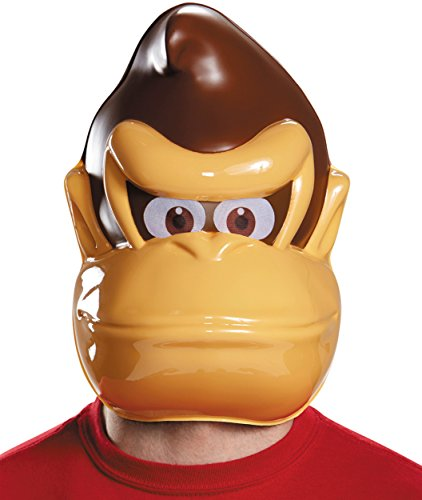 Price comparison product image Disguise Donkey Kong Mask Costume Accessory, Brown, One Size