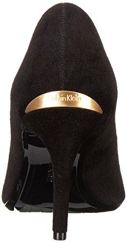 Klein Gayle Women's Black Pump Suede Calvin fq0S8xS