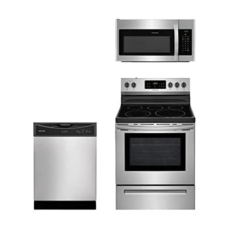 Amazon.com: Frigidaire 3-Piece Acero Inoxidable Cocina del ...