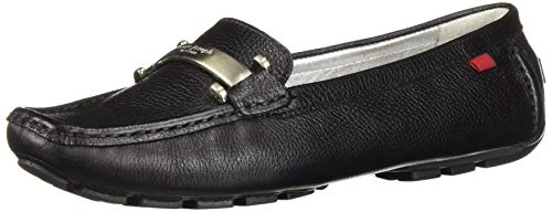 (MARC JOSEPH NEW YORK Womens Leather West Village Loafer Driving Style, Black Grainy, 6 B(M) US)