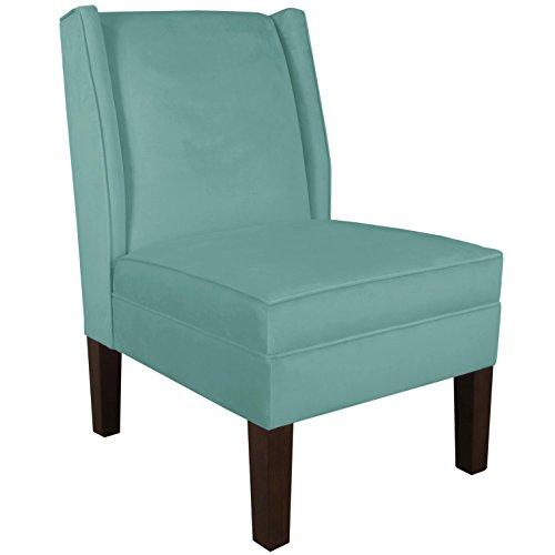 Skyline Furniture Wingback Chair, Velvet Caribbean