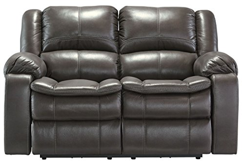 Ashley Furniture Signature Design - Long Knight Recliner Loveseat - Power Reclining Sofa - Gray