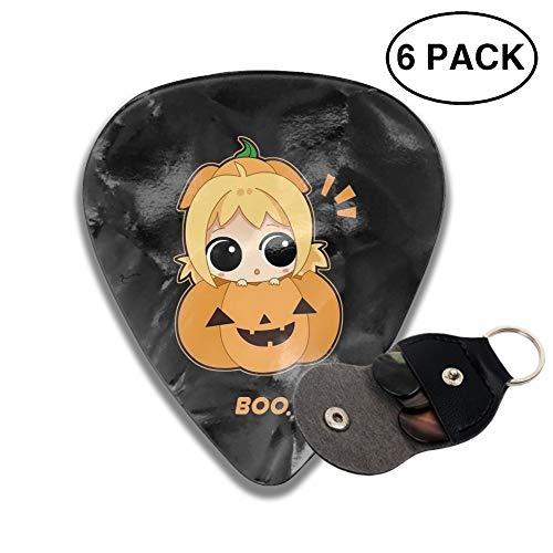 Guitar Picks Holiday Halloween Anime Celluloid Plectrum Thin Medium Heavy Bass 3D Printed Variety Pick Mini Music Gift Grip -6pcs