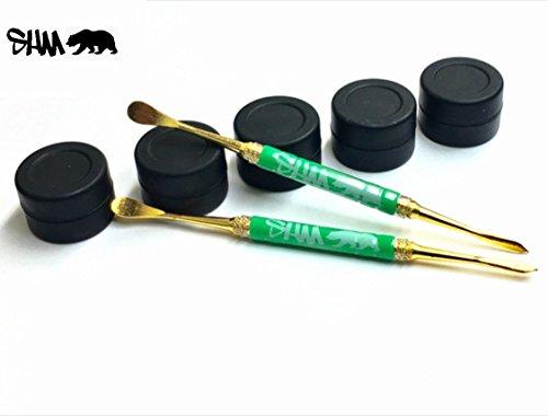 SHM Gold Dab Carving Tool, 5 Silicone Jars
