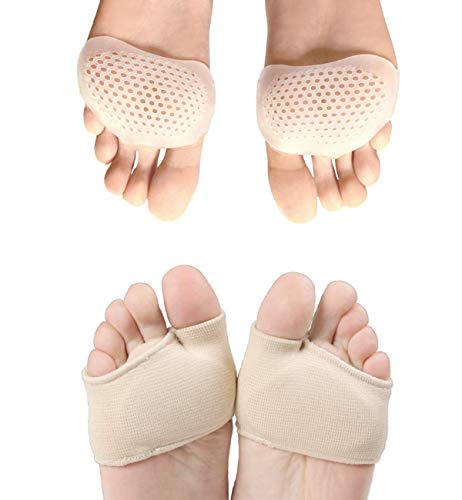 Metatarsal Pads for Women and Men | Ball of Foot Cushions | Orthotics Shoe Insoles Pain Relief for Metatarsalgia, Mortons Neuroma, Diabetic Feet, Runners, Calluses, Corns, Blisters, Fractures