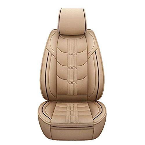Car Seat Cushion for Leather Seats Very Thick & Durable Quality Backseat Cover, for 5 Seats Vehicle Suitable for Year Round Use,Beige: