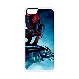 iPhone 6 Plus 5.5 Inch Cell Phone Case White Spiderman On Statue Edash