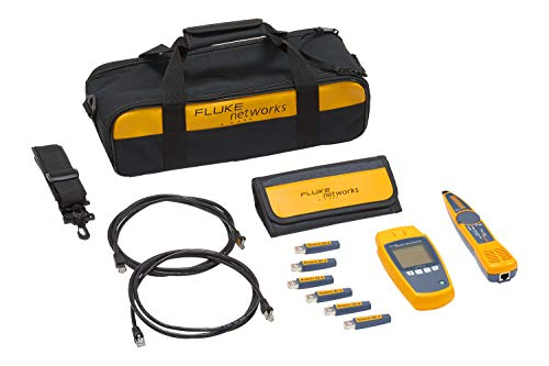 Fluke Networks MS-POE-KIT MicroScanner Copper Cable Verifier & PoE tester for RJ-45 Category 5-6A Ethernet Cables, Includes IntelliTone Pro 200 & Remote ID Kit ()